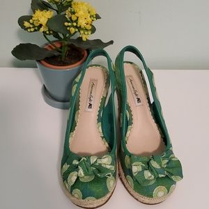 Espadrille Wedge Heel Shoe, Size 7 1/2